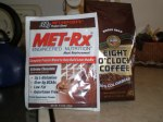 Met-rx + whole bean coffee = YUMMY